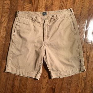 J. Crew Stanton Chino Cotton Twill Shorts SZ 35
